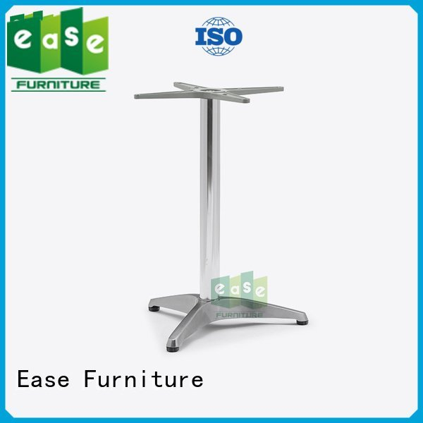 duty white cast aluminum table base EASE
