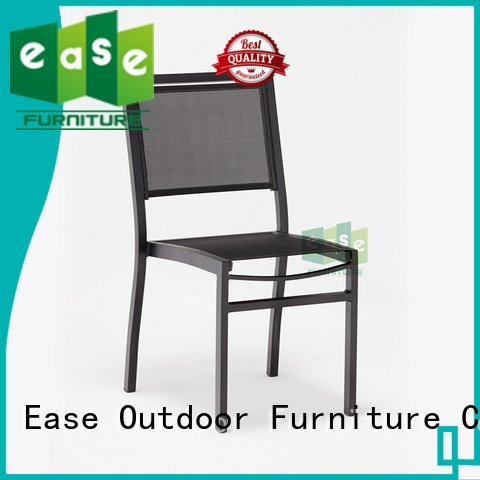 EASE outdoor bistro table and chairs coated mesh fabric aluminum