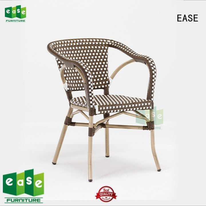 EASE Brand woven bistro armchair cafe look