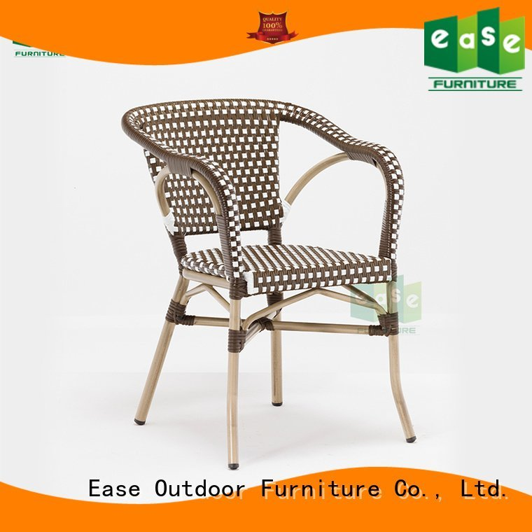 weaving woven rattan EASE outdoor bistro chairs