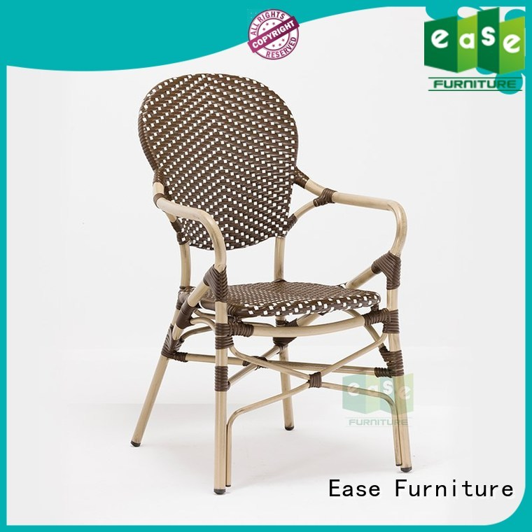looking bistro armchair aluminum EASE company