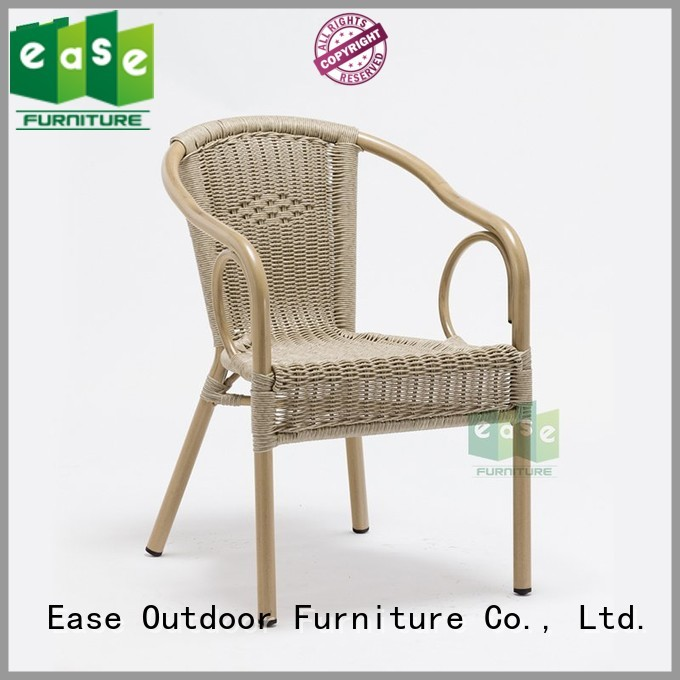 Hot standard aluminum wicker chairs all stacking EASE Brand