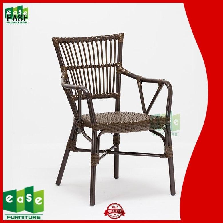aluminum cafe chairs aluminun rattan EASE Brand