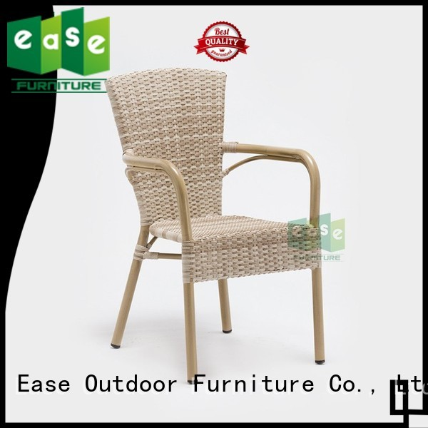 cafe outdoor OEM rattan bistro chairs EASE