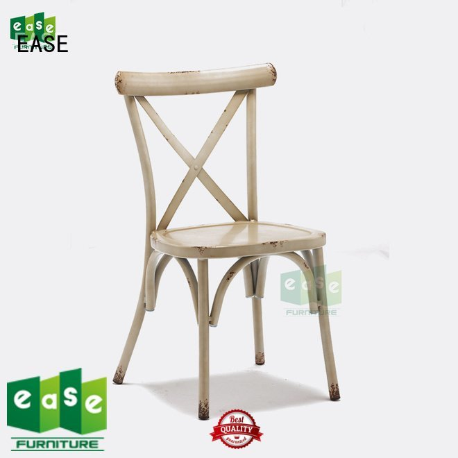 Hot industrial garden chairs vintage industrial cafe chairs white EASE