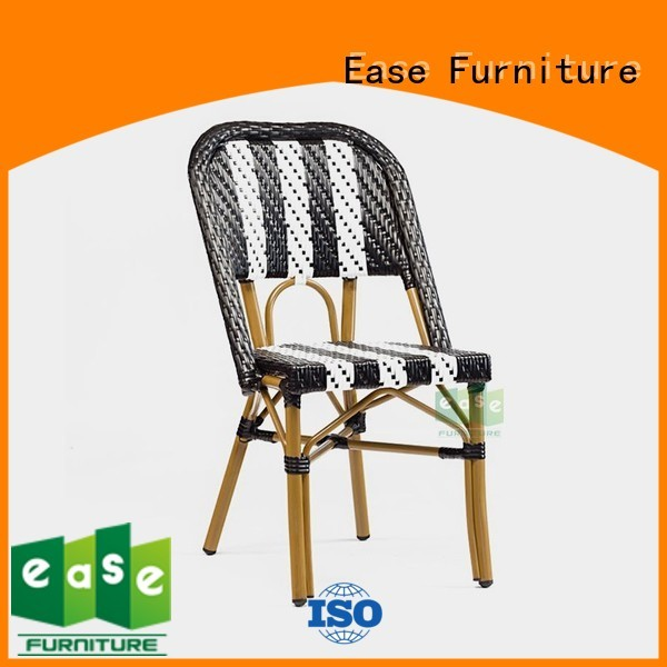 red Custom woven outdoor bistro chairs color EASE