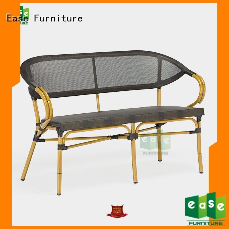 EASE Brand frame fabric bistro bamboo furniture sofa set