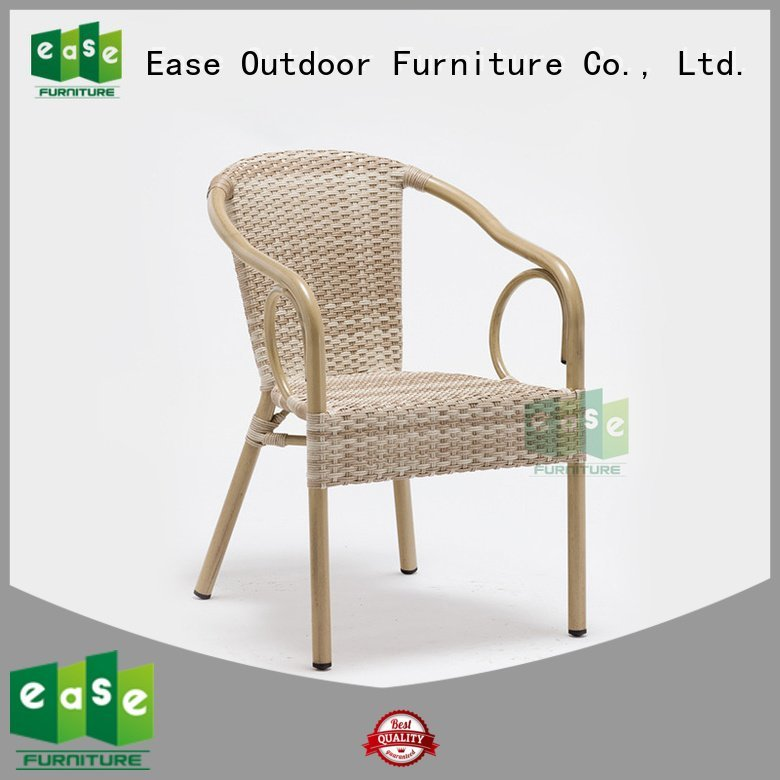rattan cafe chairs armless side rattan plastic EASE