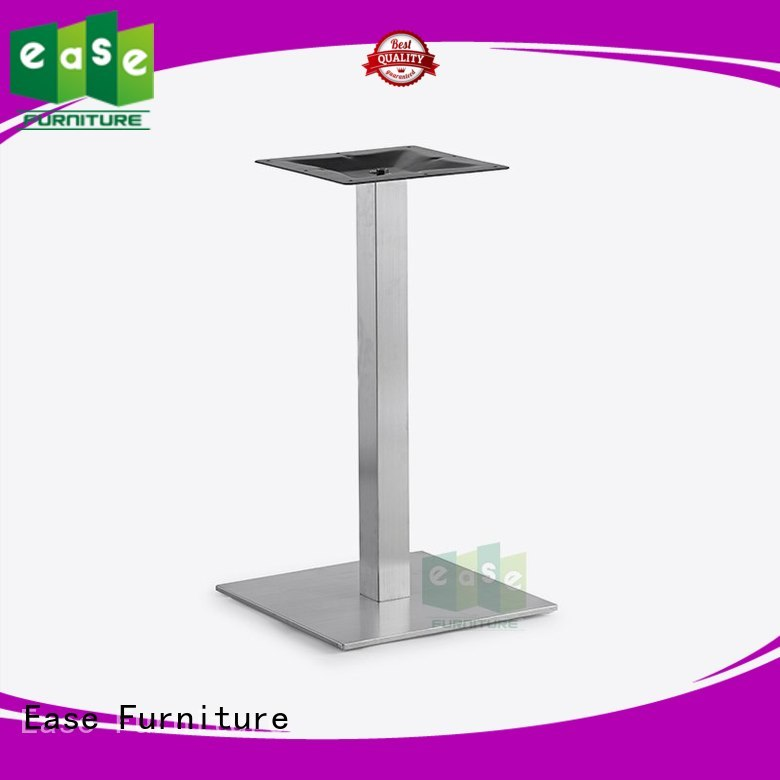 EASE Brand stainless brushed finish stainless steel dining table base steel
