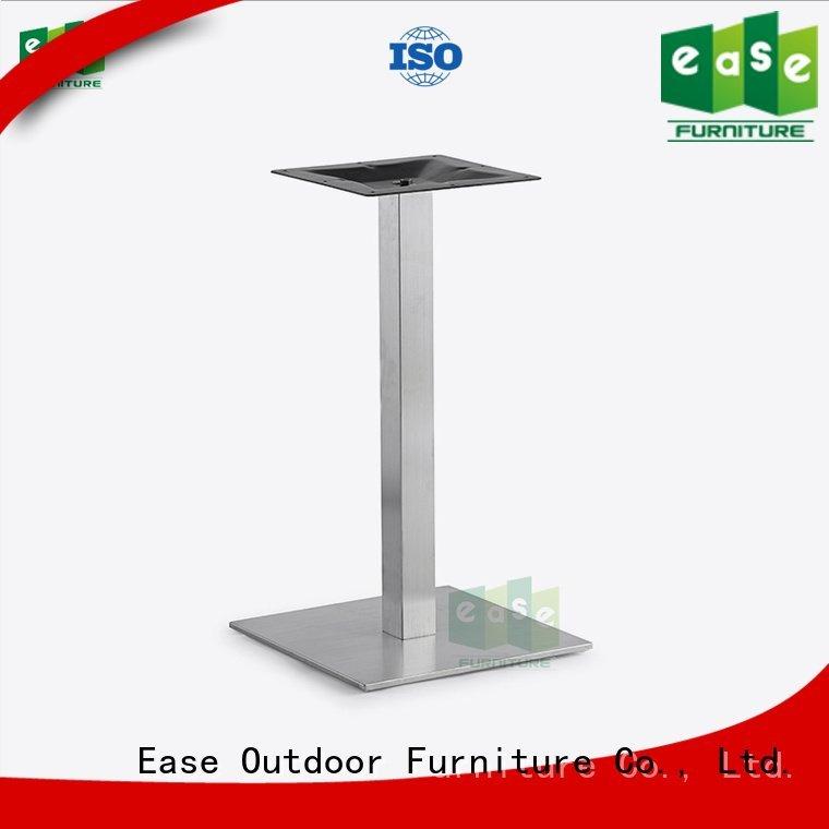 EASE Brand restaurant brushed finish stainless steel legs table