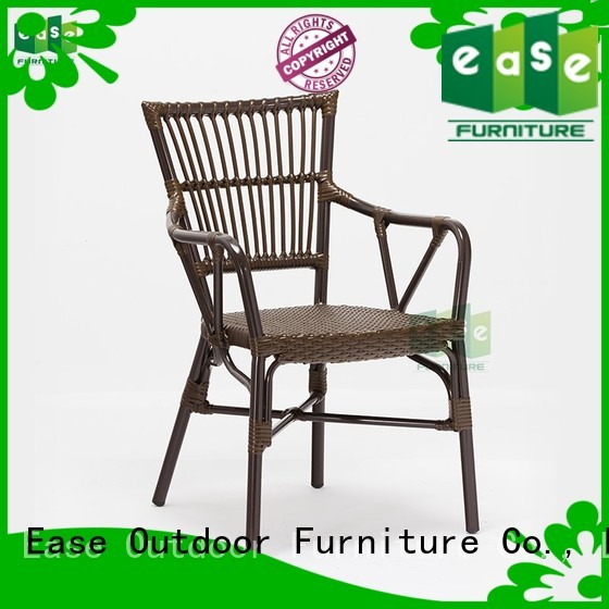 rattan standard aluminum cafe chairs chair dining EASE Brand
