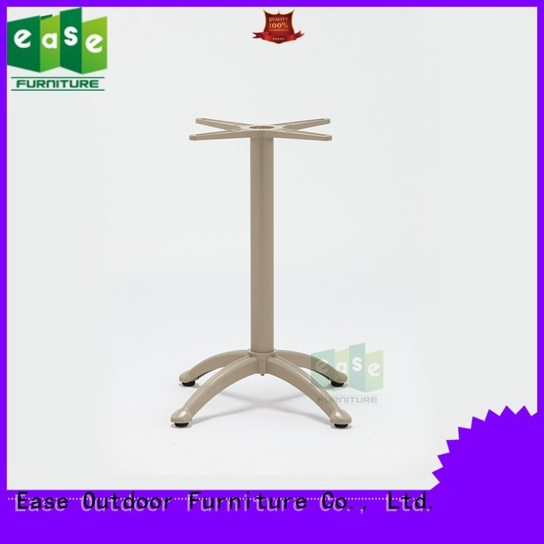EASE surface silver cast aluminum table base