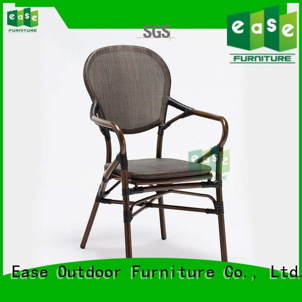 fabric modern wood EASE outdoor bistro table and chairs