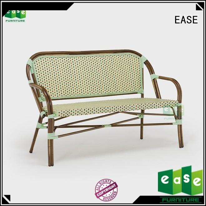EASE Brand outdoor fabric bistro bamboo furniture sofa set