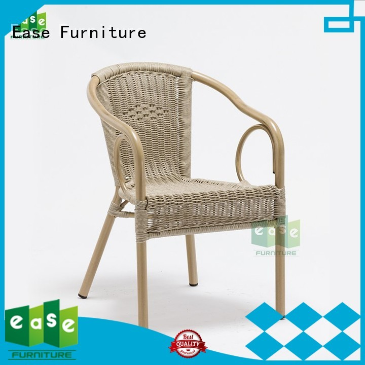 aluminum cafe chairs e3016 stacking EASE Brand aluminum wicker chairs