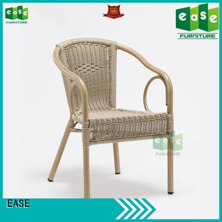 EASE Brand chair aluminun custom aluminum cafe chairs