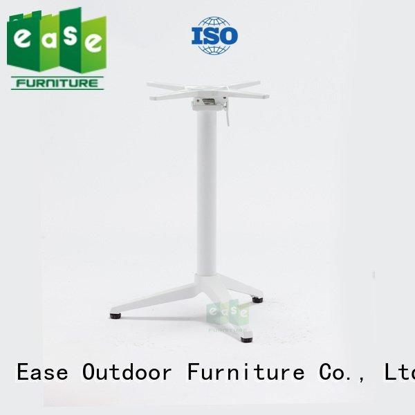 OEM cast aluminum table base parts duty modern aluminum table legs