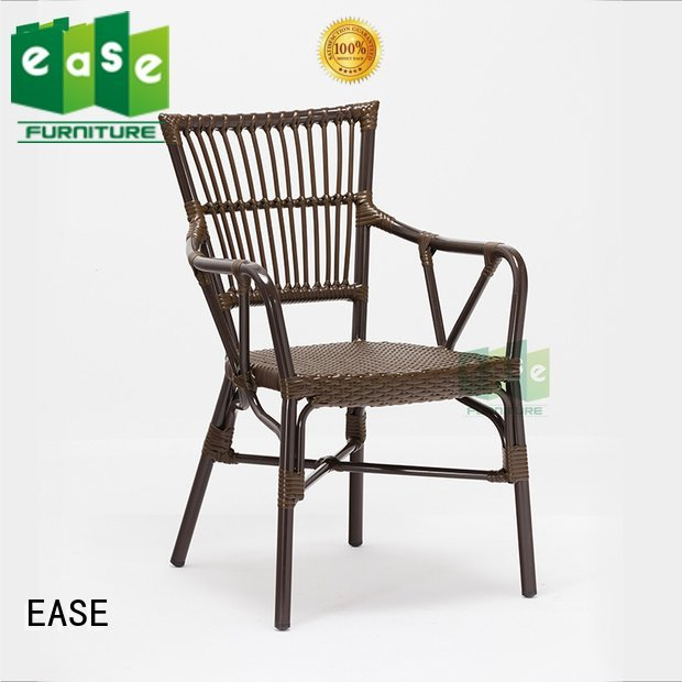 EASE aluminum cafe chairs weather stackable aluminun all