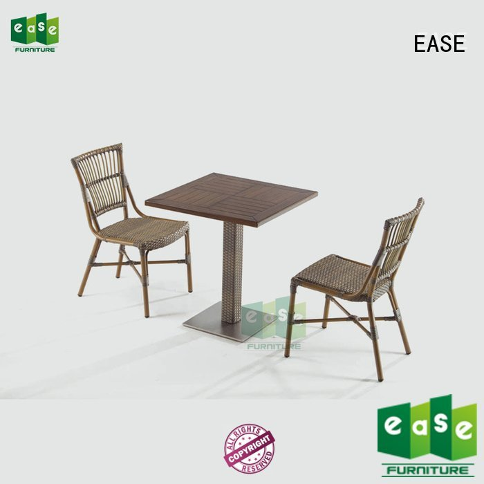 EASE aluminum patio table and chairs bistro table ii rattan
