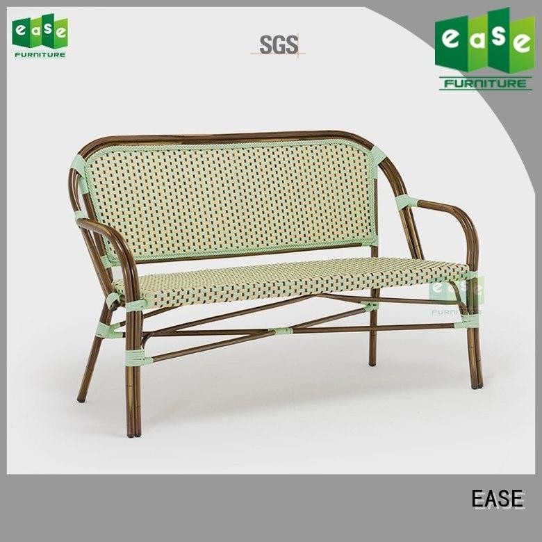 EASE Brand fabric outdoor aluminum bamboo sofa