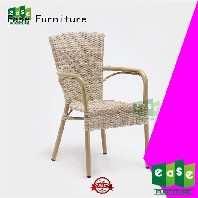 Custom bamboo rattan bistro chairs dining rattan cafe chairs