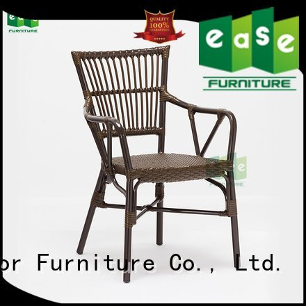stacking aluminum wicker chairs EASE aluminum cafe chairs