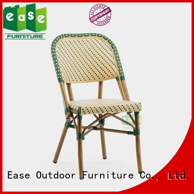 vintage brown outdoor bistro chairs EASE Brand