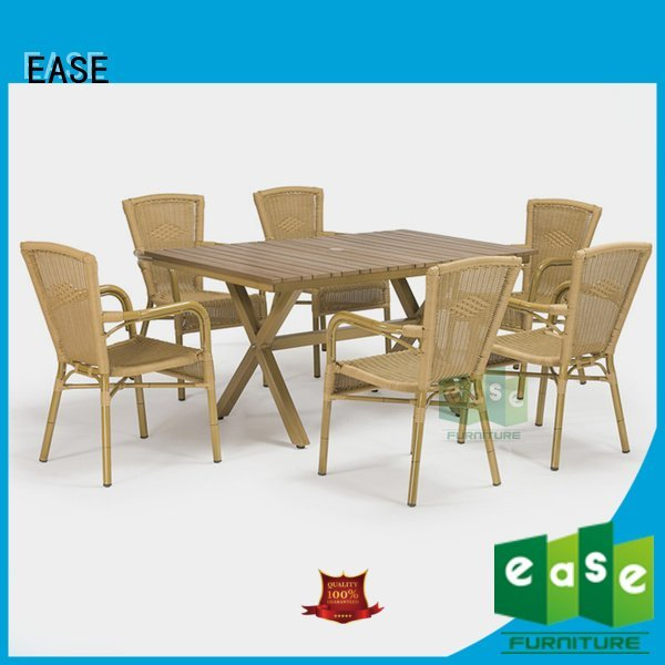EASE Brand outdoor axel wooden patio table and chairs patio sale