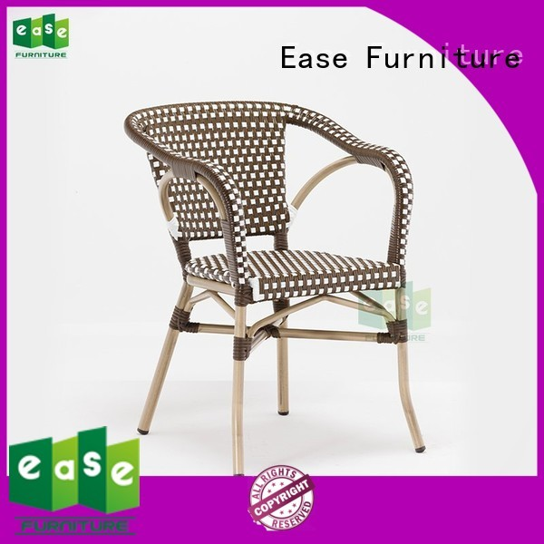 side black outdoor bistro chairs brown paris EASE company