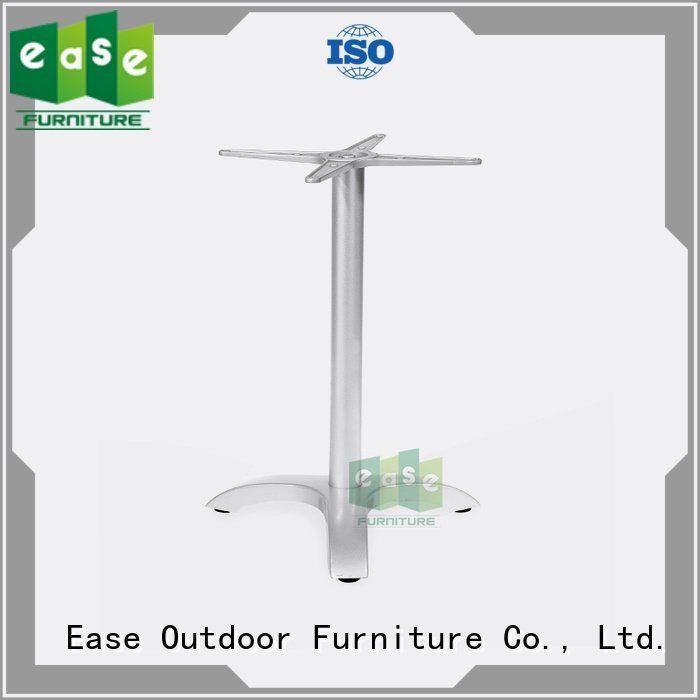 legs polished white EASE cast aluminum table base