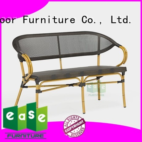 EASE Brand frame mesh bamboo furniture sofa set bistro