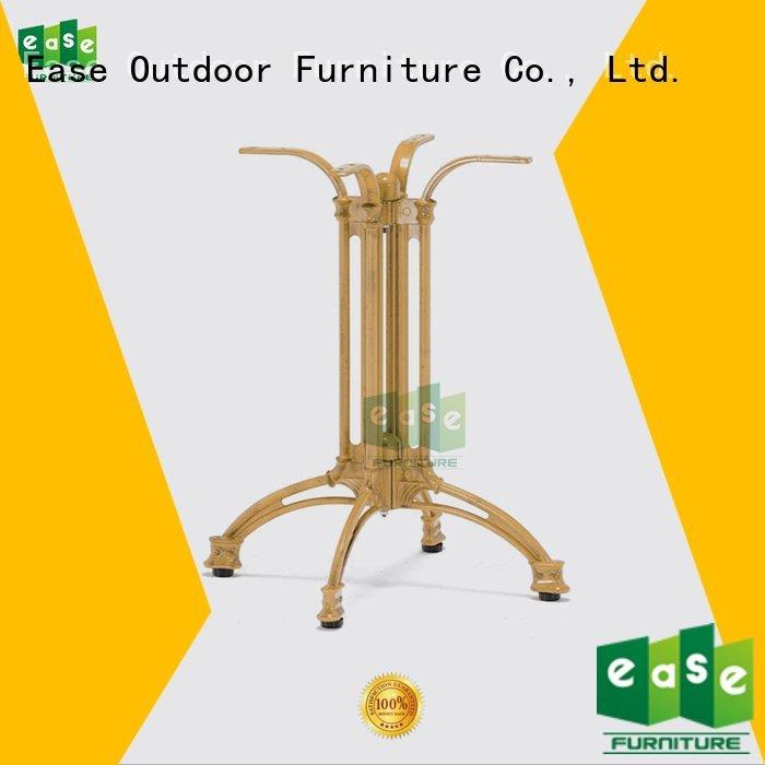 EASE quality black bamboo cast aluminum table base foldable